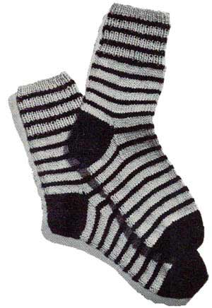 Striped Socks Knitting Patterns