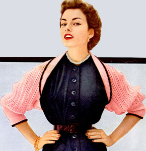 Knitting Patterns For Shrugs With Shawl Collar : Beacon Hill Shrug Pattern Knitting Patterns