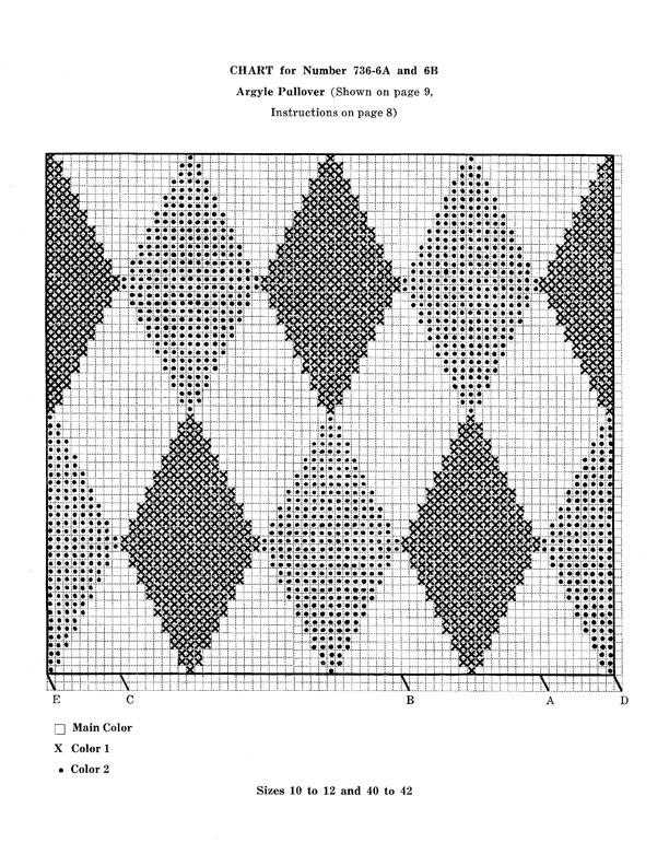 Mans Argyle Pullover Pattern Knitting Patterns
