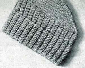 Knitted Hat Pattern Vintage Beany Cap No 9314