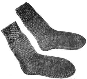 Knitting Pattern For Plain Socks : Plain Socks Pattern #300 Knitting Patterns
