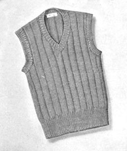 Boy S Sleeveless Sweater Pattern Sizes 8 10 12 Knitting Patterns