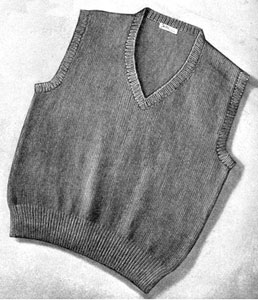 Knitting Pattern Mens Sleeveless Vest : Mens Sleeveless Sweater Pattern Knitting Patterns