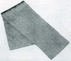 Checker Scarf Pattern - Knitted Vintage Pattern