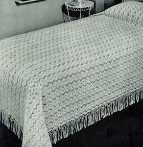 West Wind Bedspread Pattern 6057 Knitting Patterns