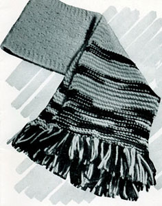 Vintage Knitted Scarf Pattern