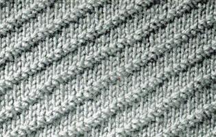 Diagonal Rib Stitch | Knitting Patterns