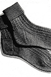 twisted rib socks pattern