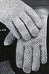 Men's Afghan Stitch Gloves pattern