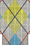 Argyle socks pattern