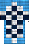Checkboard socks pattern