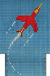 Jet Airplane socks pattern