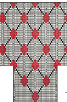 Diamond Lattice socks pattern