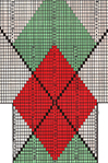 Diamond Overlay Argyle socks pattern