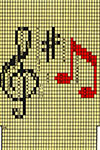 Music Socks pattern