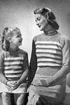 mother and daughter sweater patterns