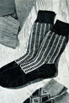 two tone twist socks