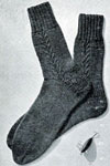 cable clock socks pattern