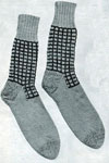 men's checked socks pattern