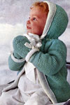 reversible knitted baby set pattern