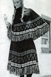 fair isle poncho skirt