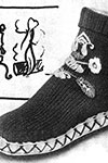 Embroidered Shoe Socks pattern