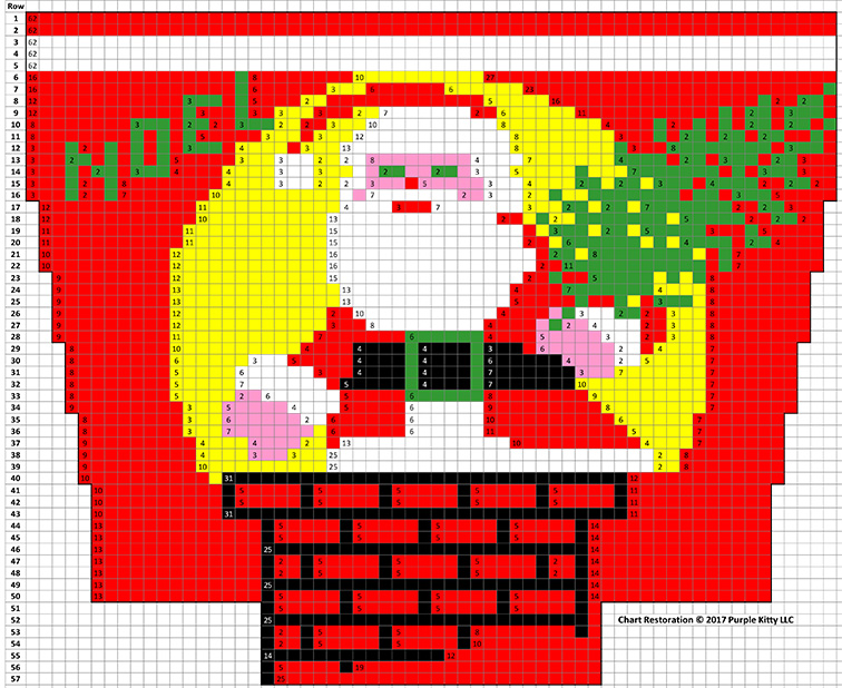 Santa and Chimney Stocking Pattern #6206C chart
