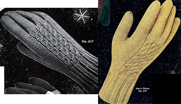 Men's & Women's Cable Gloves Pattern #617 images