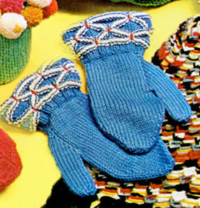 Smocked Border Mittens Pattern