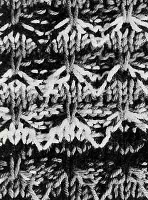 Quick Knit Afghan Pattern swatch