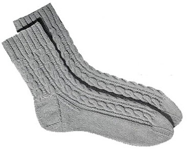 Mens Cable Socks Pattern, No. 610