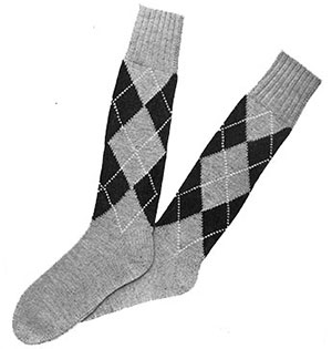 Mens Argyle Socks Pattern #602