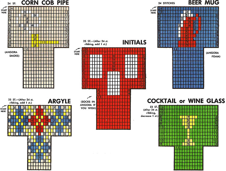 Miniature Socks Pattern #2401 chart