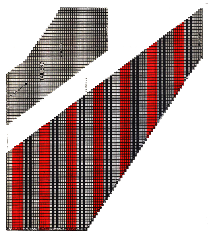 Diagonal Stripe No. 1 Necktie Pattern #5015T