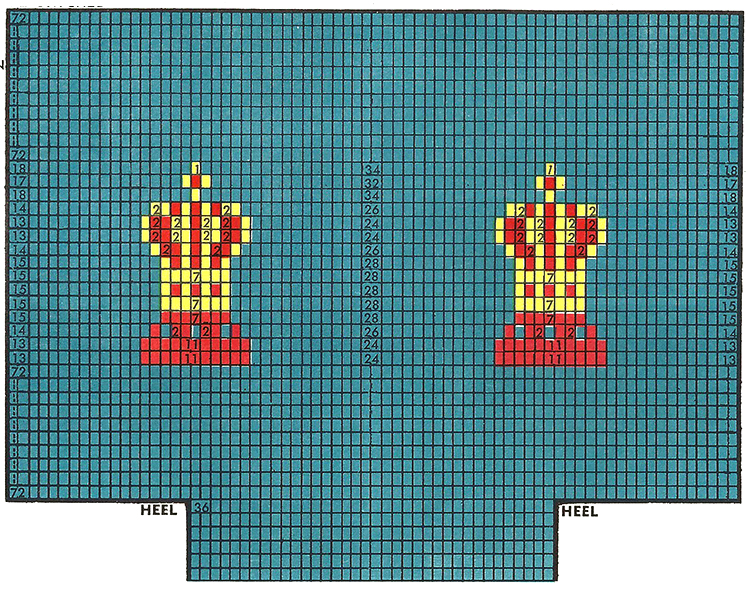 Chess Crown Clock Socks Pattern #72-115