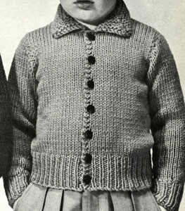 Plain Cardigan Pattern - boy's version