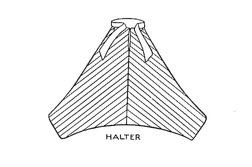 Roman Striped Halter Pattern #446 chart