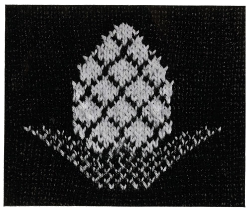 Pineapple Afghan Pattern motif