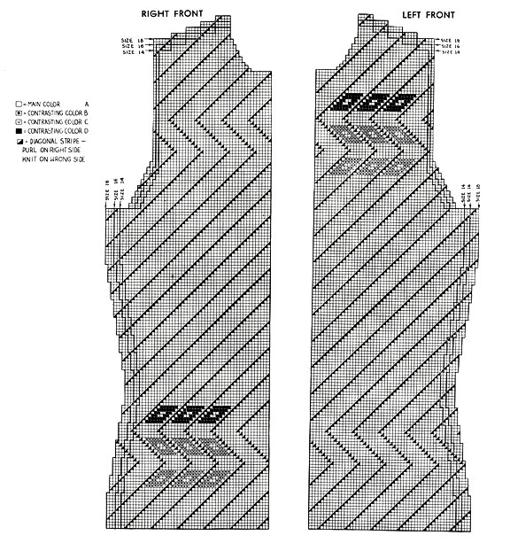 Traveler Cardigan Pattern chart