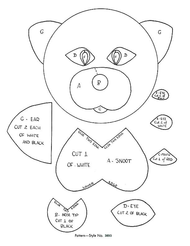 Panda Toy Pattern chart