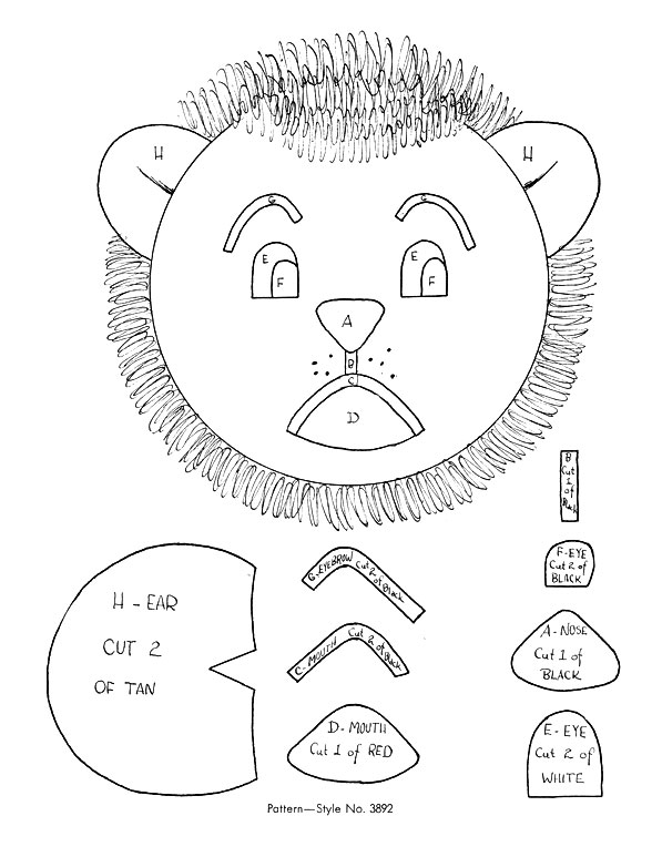Lion Toy Pattern chart