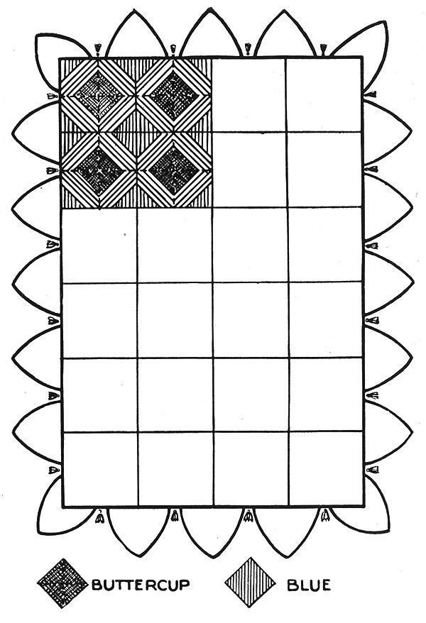 Fireside Afghan Pattern #641 chart
