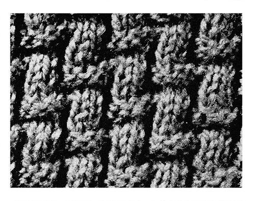 Basket Weave Scarf Pattern #2270