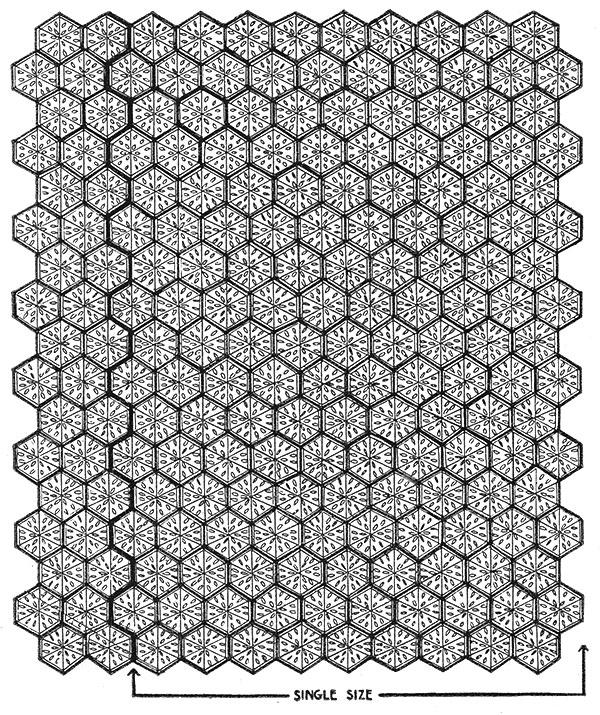 Petal Bedspread Pattern #652 chart