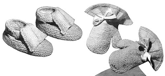 Shoes and Mittens Pattern #5061