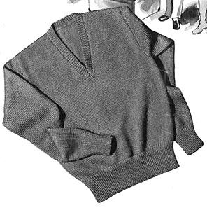 V-Neck Pullover Pattern #S-100