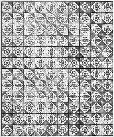 Evensong Bedspread Pattern #620 chart