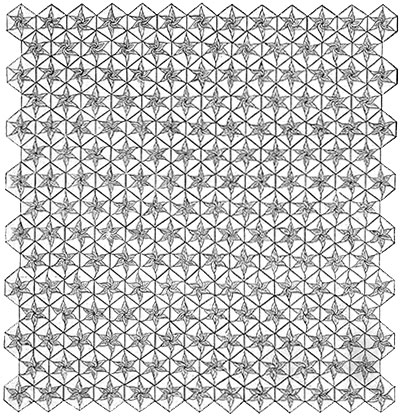 Moonflower Bedspread Pattern #627 chart