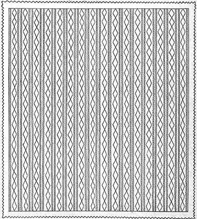 Trailing Vine Bedspread Pattern #631 chart