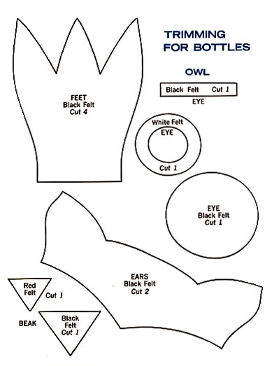 Owl Bottle Cover Up Pattern Knitting Patterns